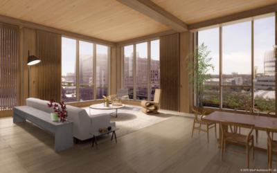 La vie dans un immeuble construit en ossature bois