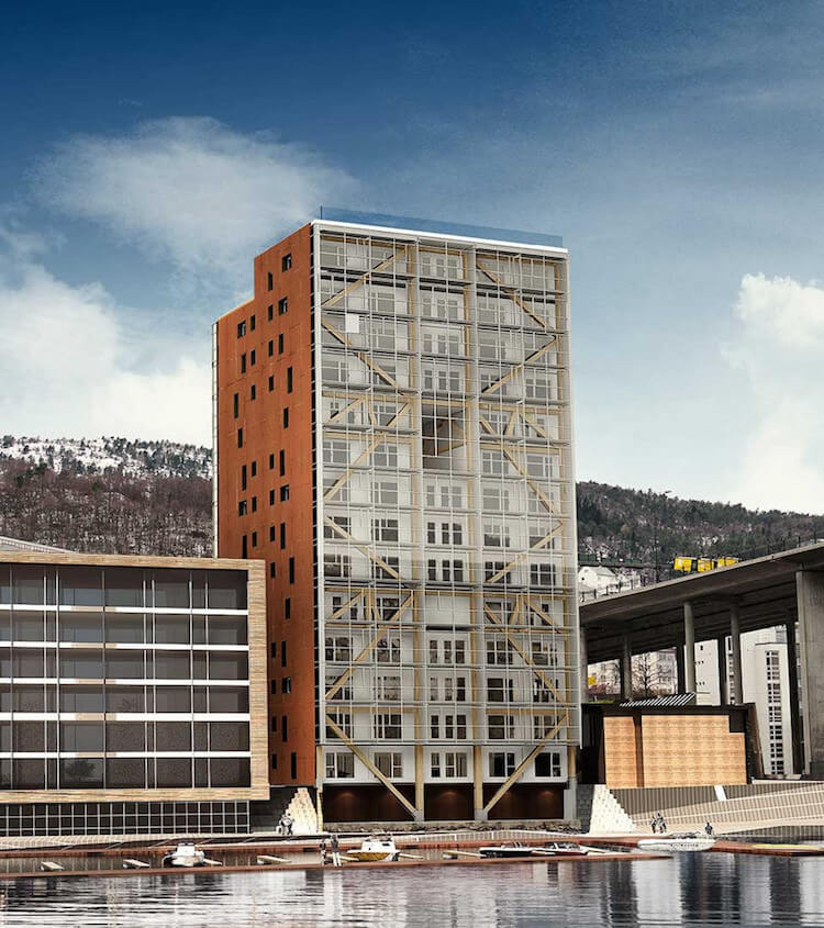 Immeuble Ossature Bois en Norvège