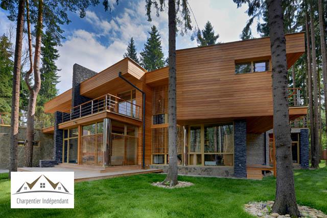 Maison d'Architecte en Ossature Bois
